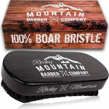 Rocky Mountain Barber Company Boar Hair Beard Brush for Men