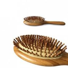 Natural Bamboo démêlant Brosse à cheveux pour tous les types de cheveux, Anti-statique des cheveux Detangler, améliorer la crois